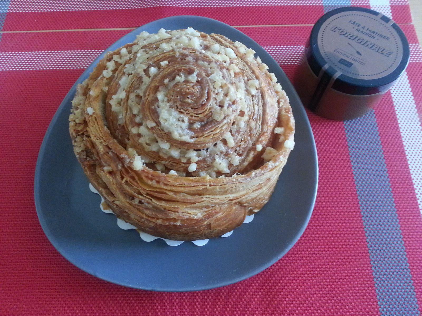 Brioche feuille et pâte à tartiner des Soeurs Macarons