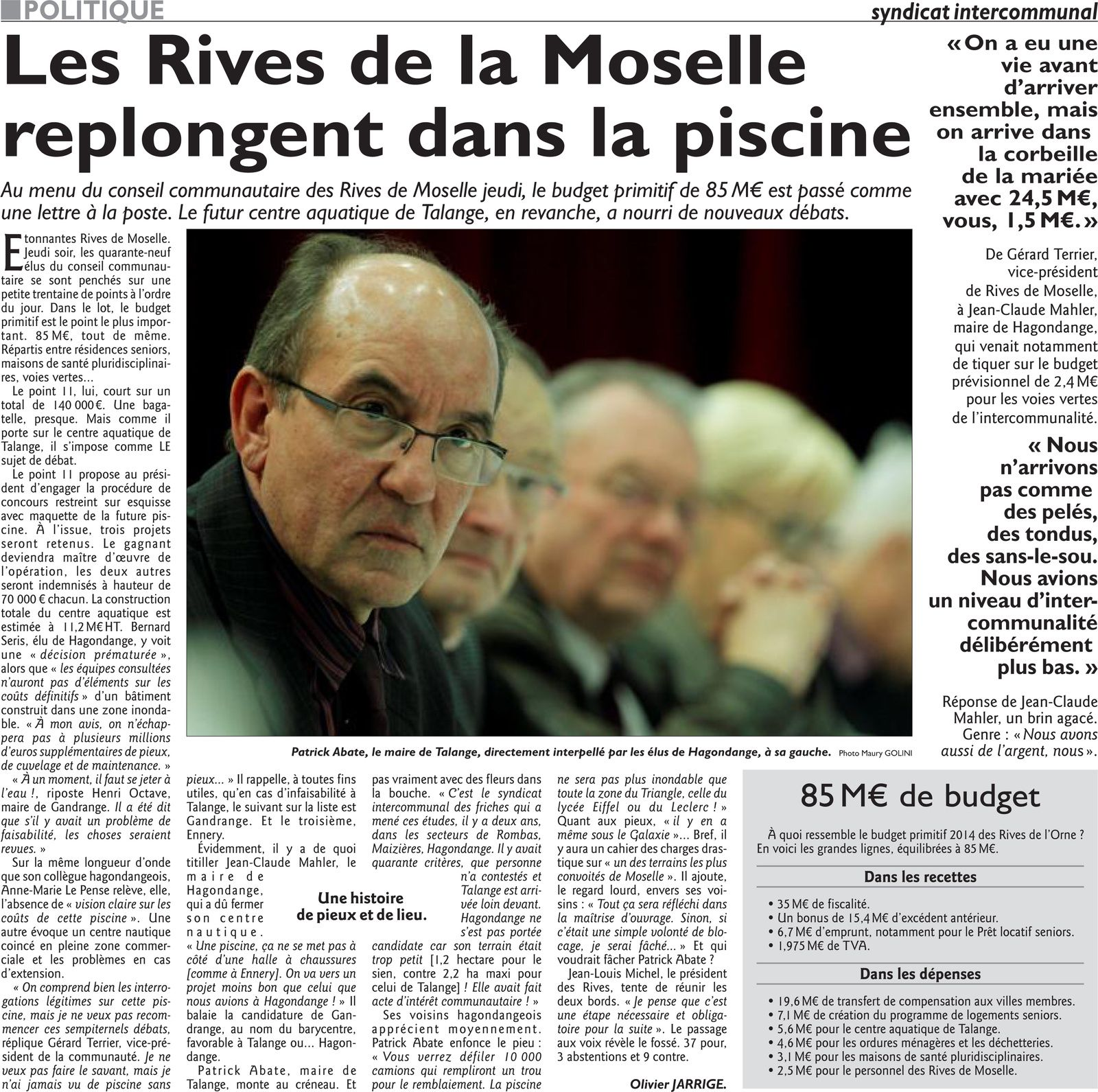 Rives de Moselle replongent dans la piscine