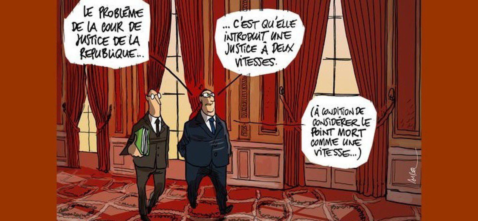 Lagarde, Tapie, la Cour de justice de la République, le FMI... Lettre ouverte à chez ces gens là / avec l'aimable collaboration de Jacques Brel