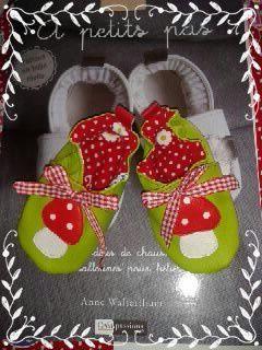 chaussons champignons pour petits petons!