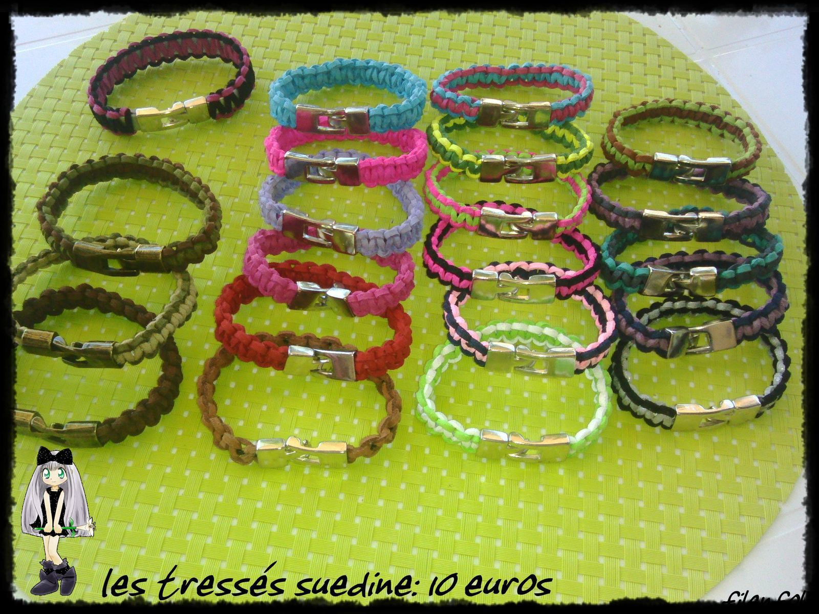 bracelets tressés pour filles..