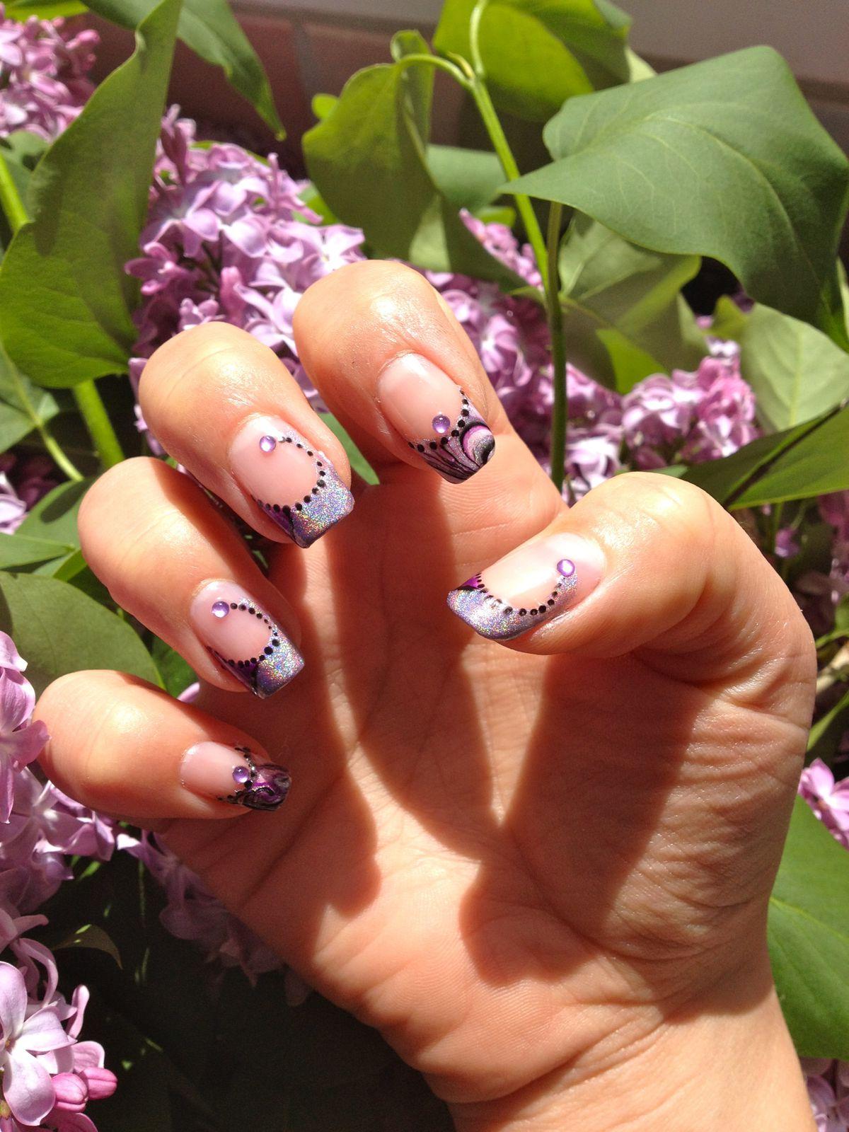Violet et holographique LM cosmétic!!!