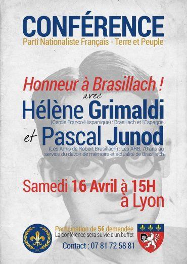&quot&#x3B;Honneur à Brasillach !&quot&#x3B; (Lyon, 16 avril 2016)
