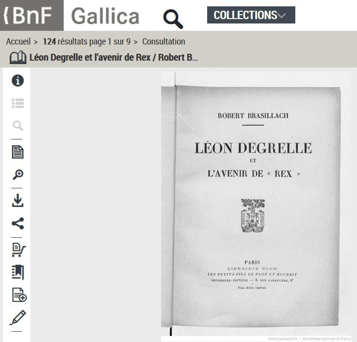 &quot&#x3B;Léon Degrelle&quot&#x3B; (en version pdf sur Gallica)