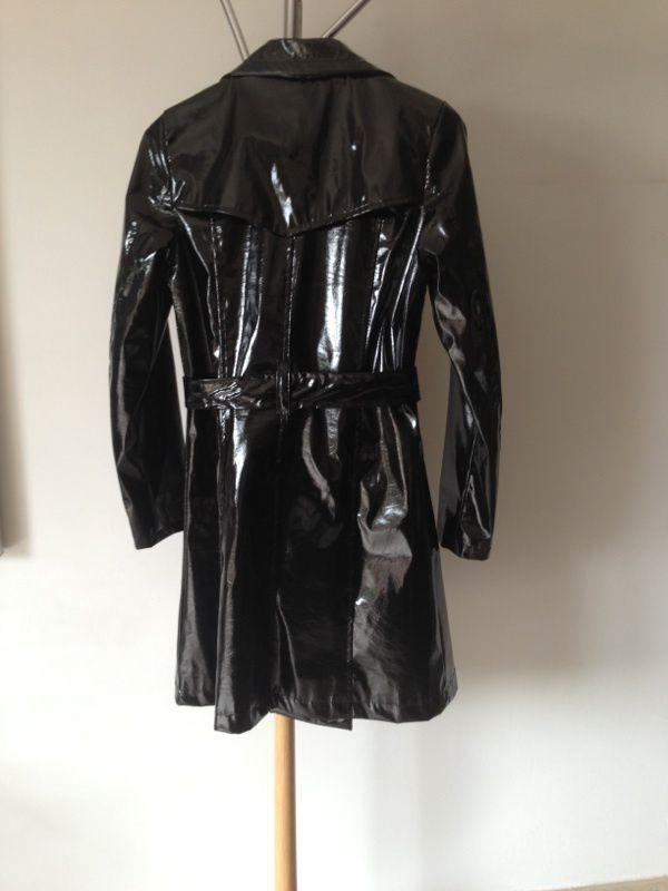 Vinyle Brillant € Imperméable Style 25 Ville Prix Trench;noir Femme OqAAwp
