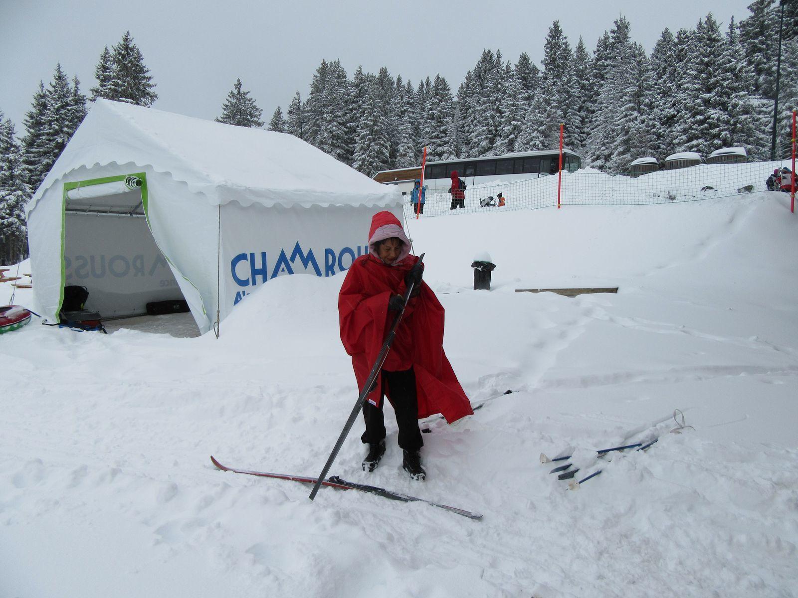 Les fondeurs ont pu brasser de la neige et faire leur piste.