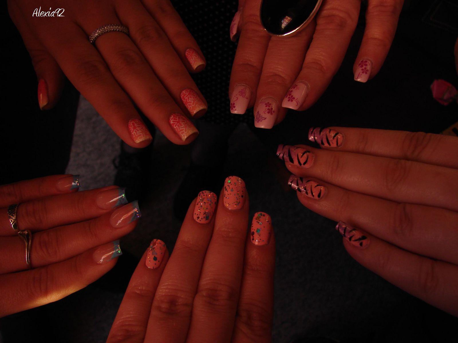 Résultat de la journée de nail art... avant départ au Japonais