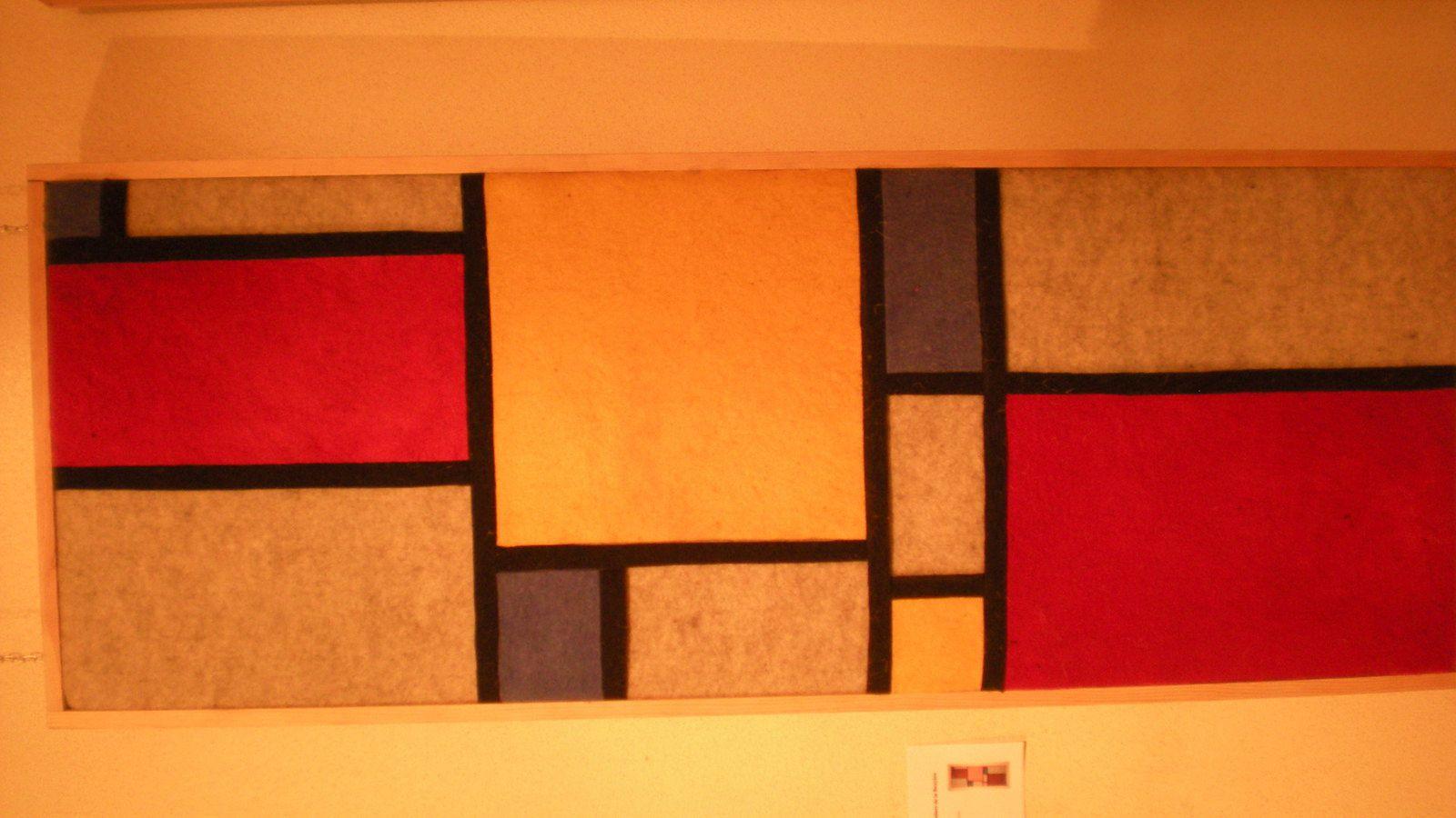 """""""Mondrian"""" terre de laine avec les ateliers de la Bruyère et Christine Michel"""