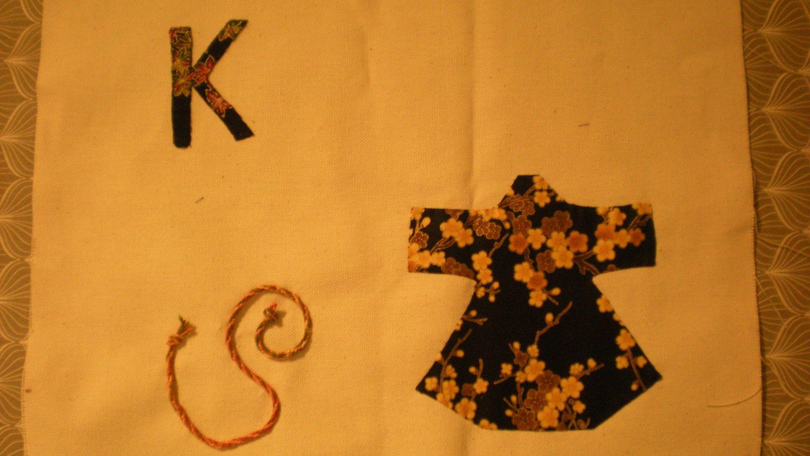 challenge textile: lettre K