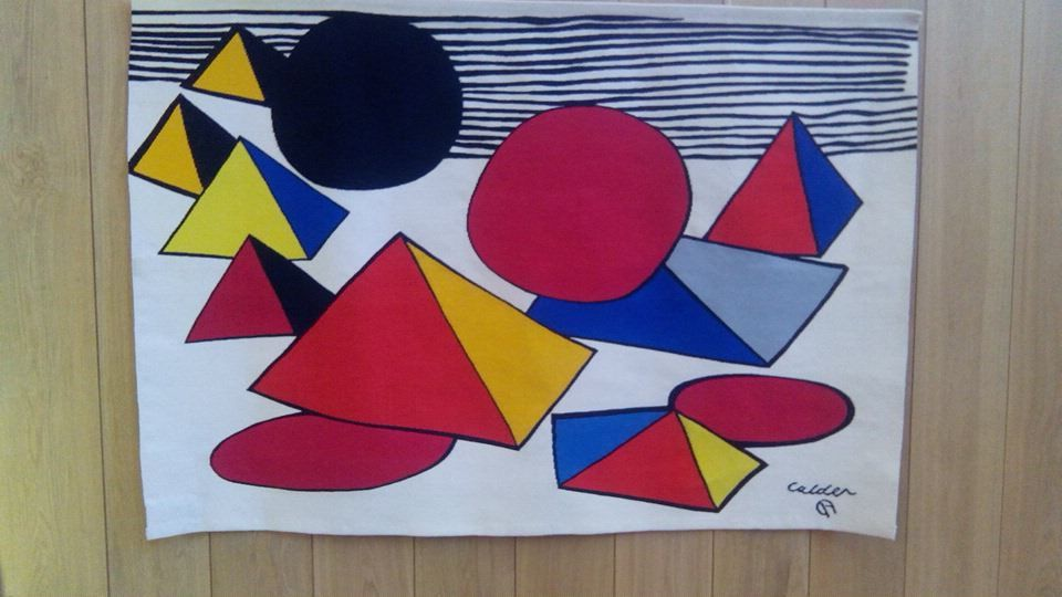 les oeuvres de Calder, Le Corbusier et Sonia Delaunay