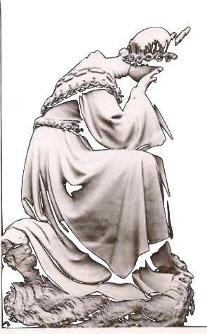 la statue de la Vierge en pleurs de la Salette