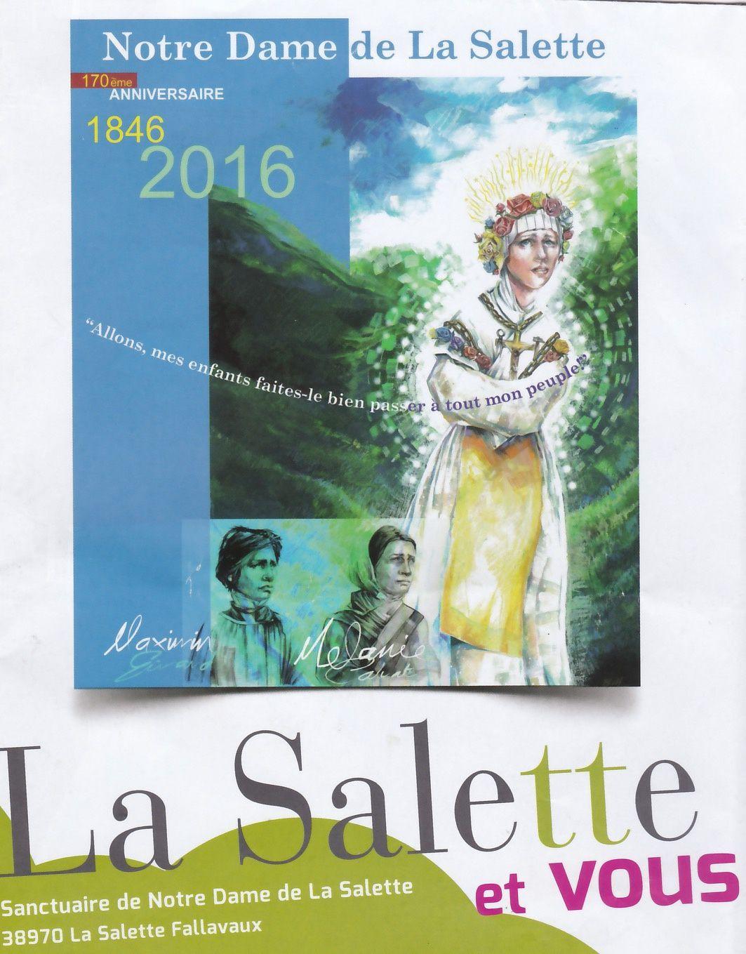 l'affiche offielle du pèlerinage de La Salette