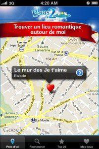 Une application qui nous a été bien utile : l'application pour smartphones de Caprice des Dieux, qui dévoile les lieux romantiques de la capitale sur une carte interactive.