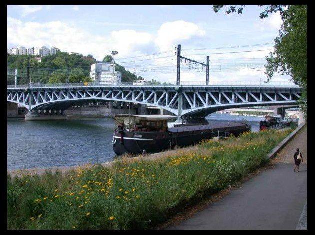 Les quais de Saône à Lyon (photo F Arnal)