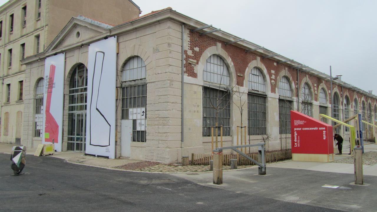 La Cité du Design à St -Etienne dans les bâtiments de l'ancienne Manufacture d'Armes.