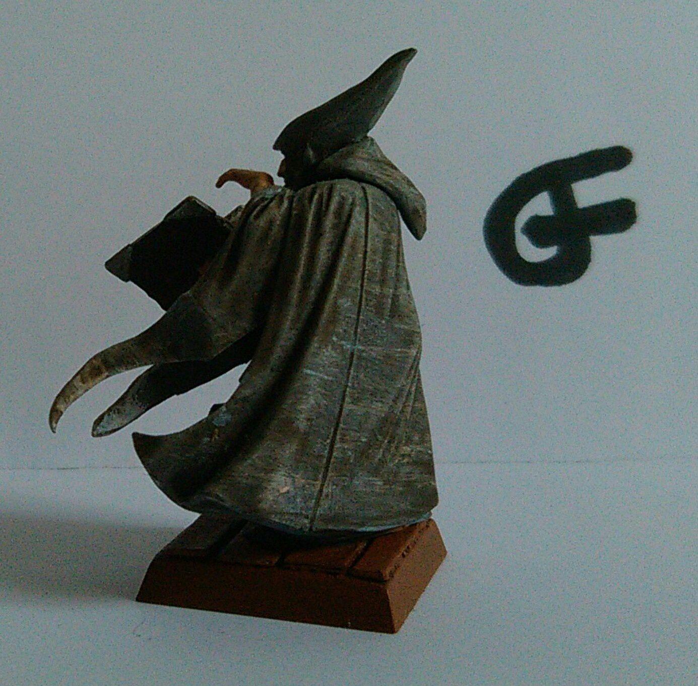 Un mage gris, le collège idéal pour accompagner les pirates. Une fig sur laquelle j'avais passé un peu de temps de peinture, elle avait meme gagné un prix dans un concours en ligne de peinture a l'époque (celui du Garage a Bitz)...