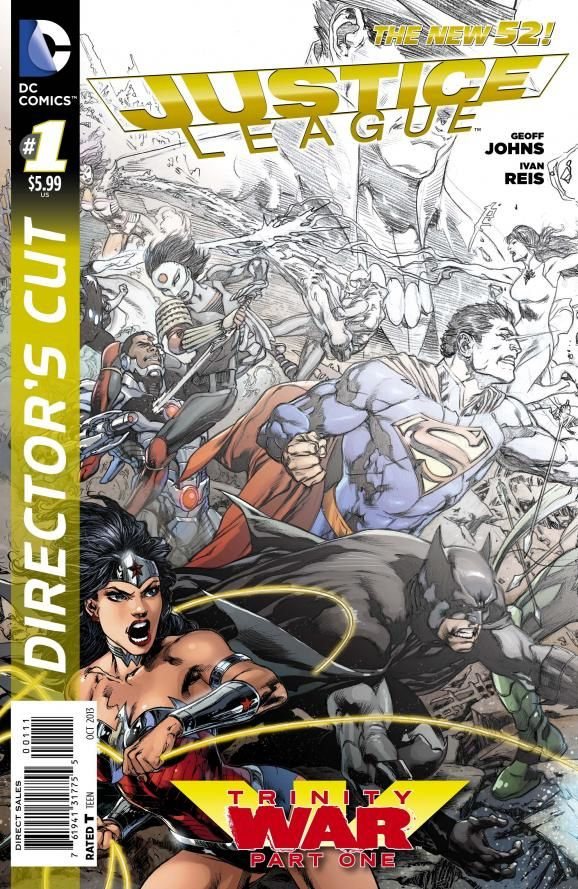 [Preview Comics VO] JUSTICE LEAGUE: TRINITY WAR DIRECTOR'S CUT #1