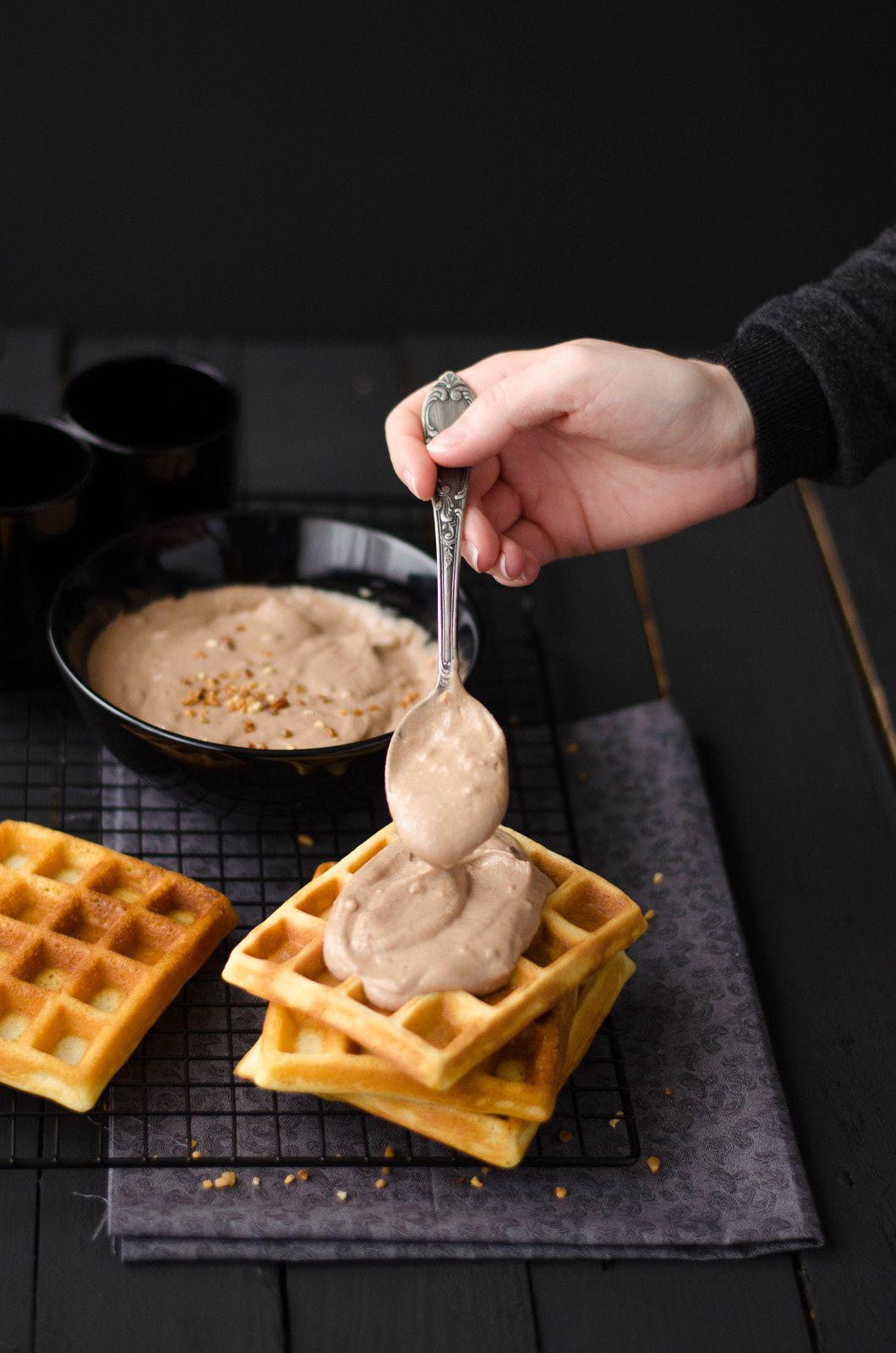 Gaufres &amp&#x3B; crème choco-noisette {au Nutella}