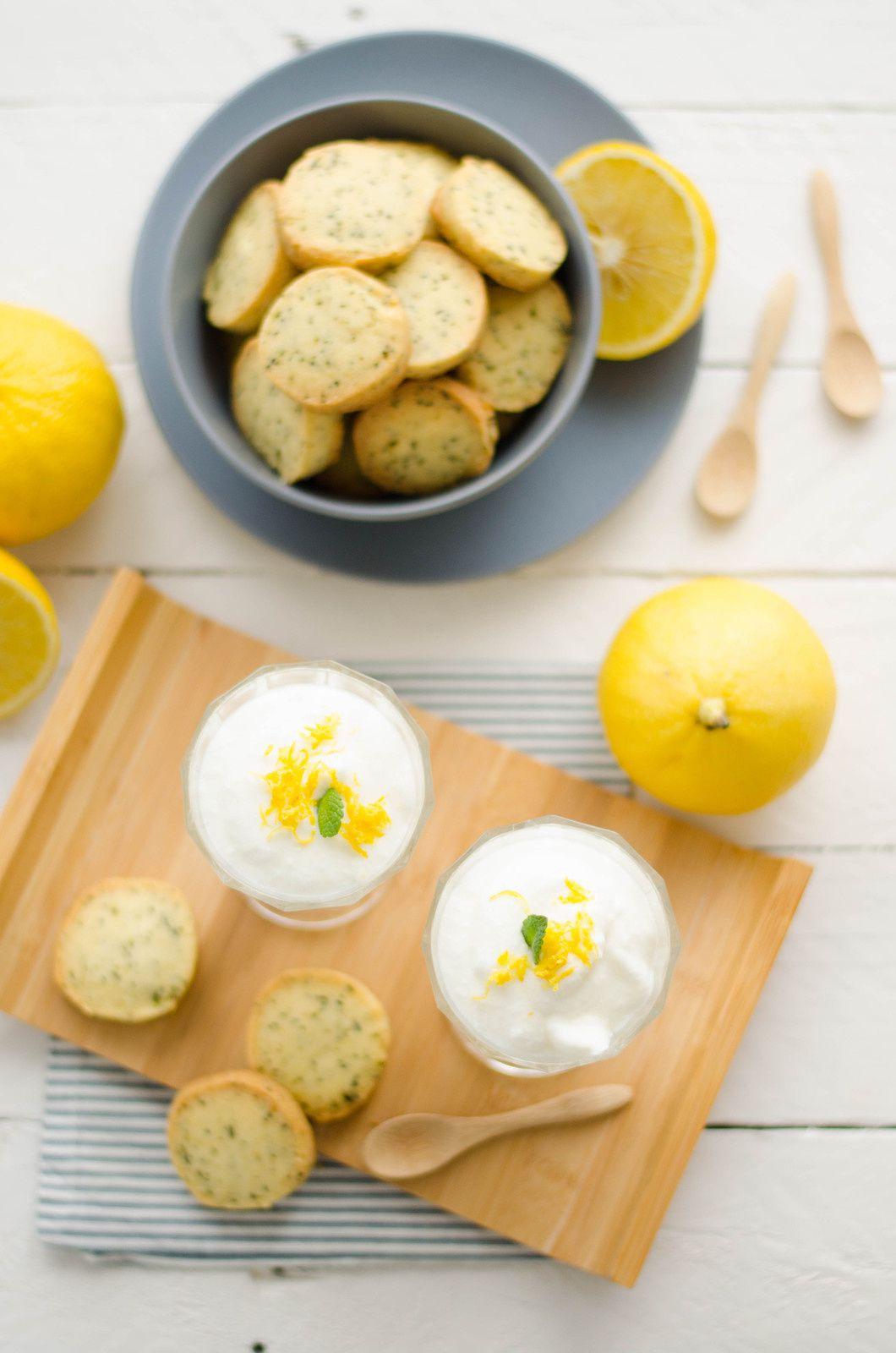 Mousse au citron bergamote &amp&#x3B; sablés au thé Earl Grey