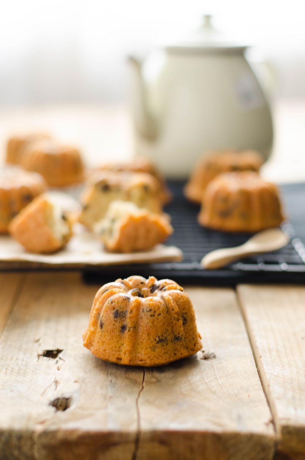 Mini bundt cakes aux pépites de chocolat