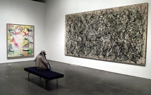 """One"" de Jackson Pollock et ""Pirate"" de Willem de Kooning."