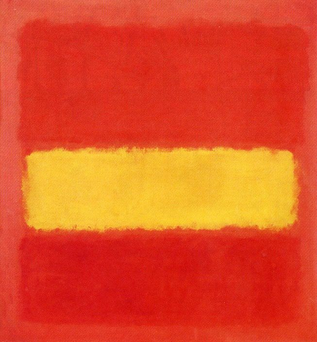 Mark Rothko, Bande jaune (Yellow Band), 1956, huile sur toile © Sheldon Museum of Art
