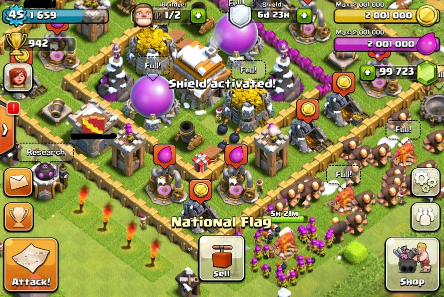 Clash Of Clans Hack No Survey Easy Download - clash-of-clans-townhall