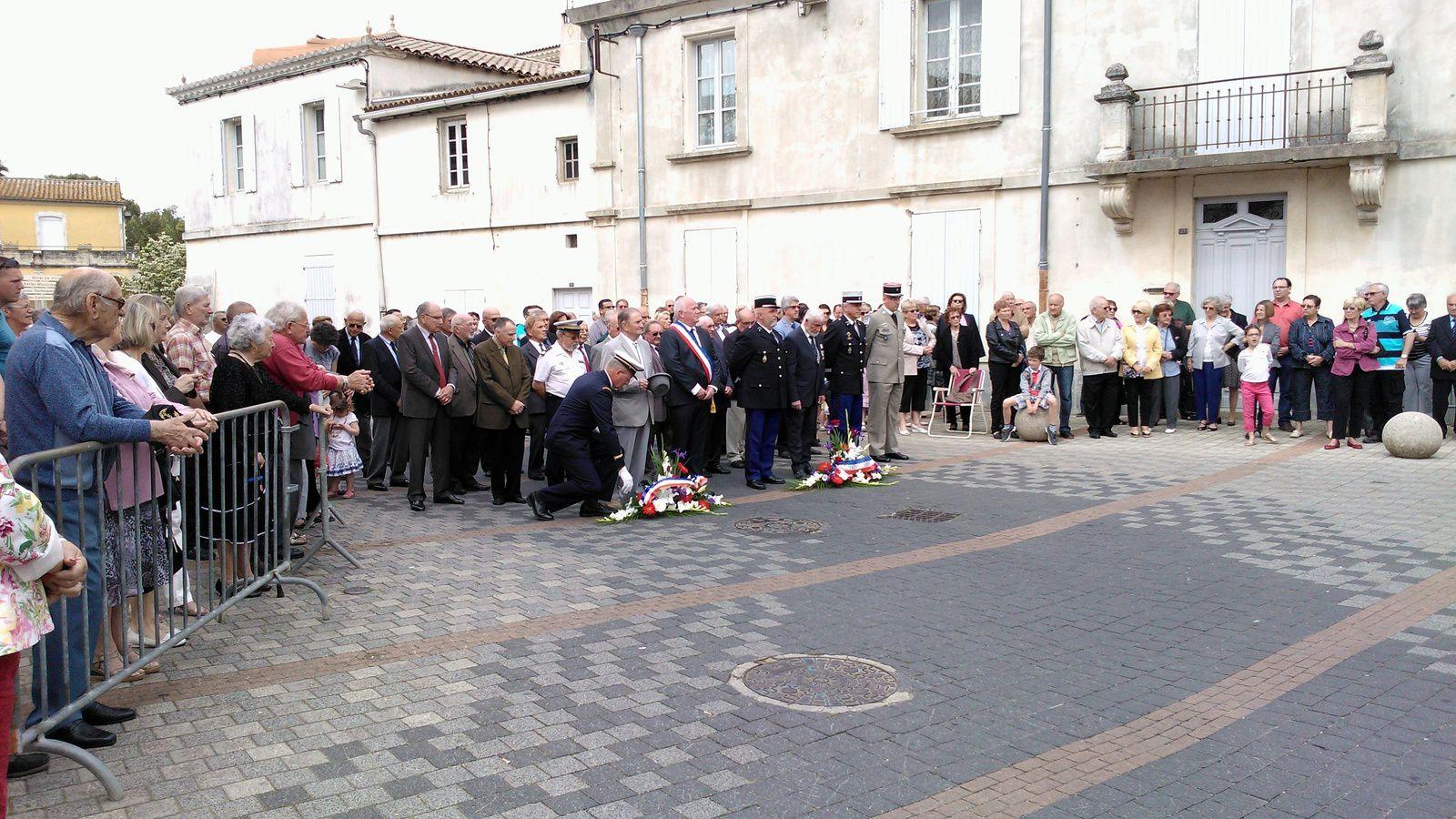 Cérémonie du 8 mai 1945 à Caissargues (Gard)