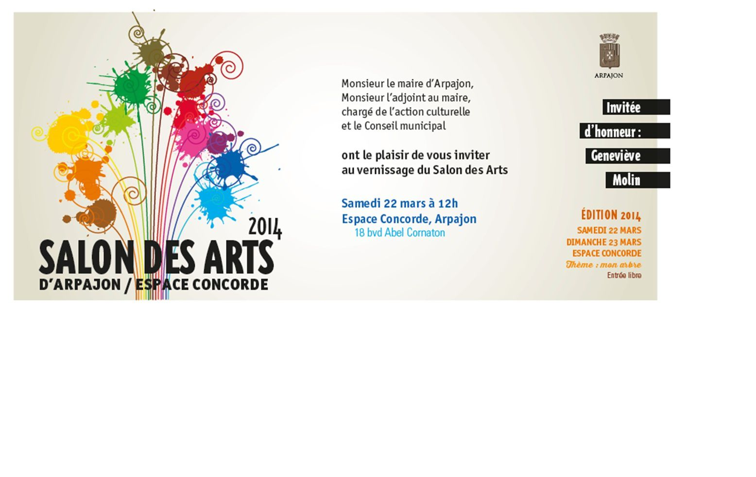 Salon des arts d'Arpajon 2014