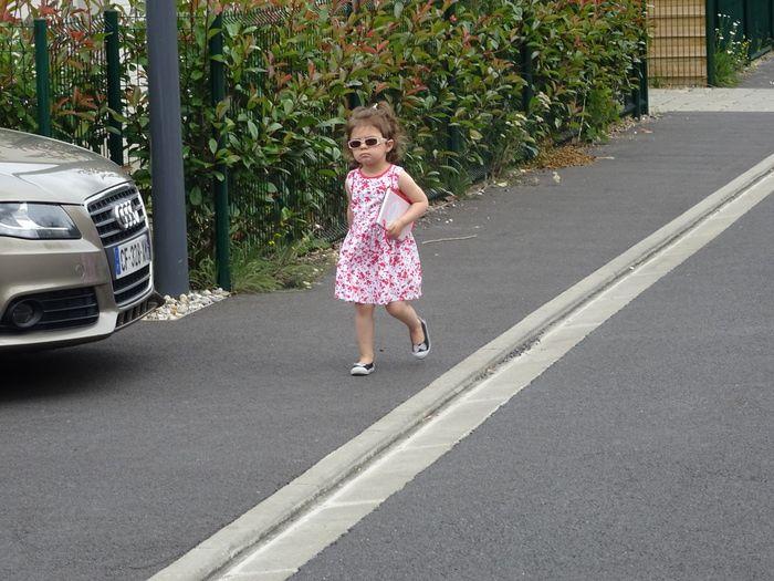 en route pour le parc.