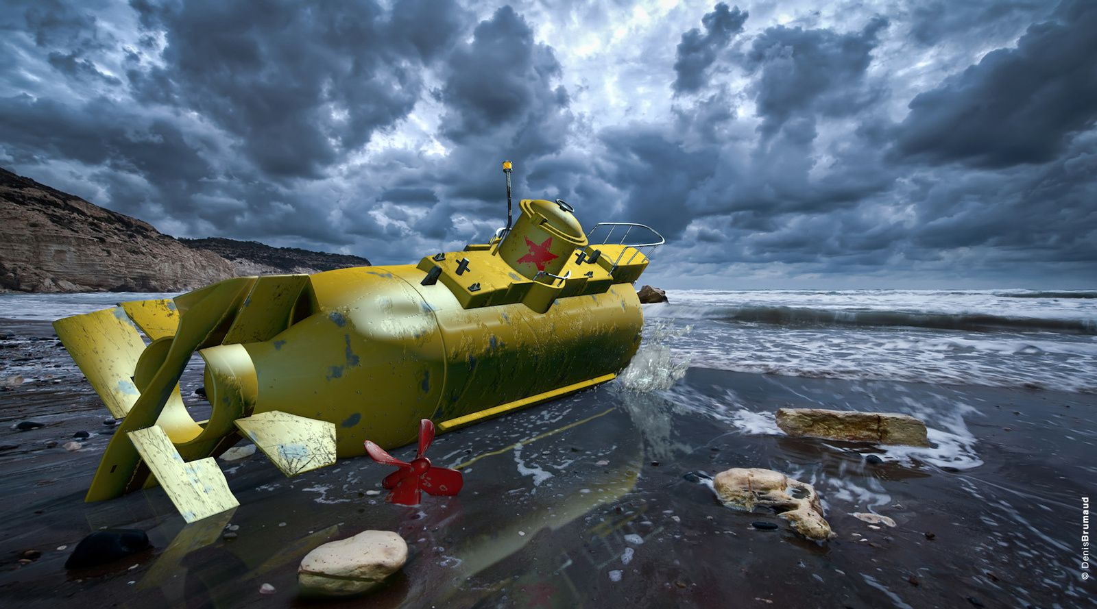 """""""SKY OF BLUE AND SEA OF GREEN IN OUR YELLOW SUBMARINE..."""""""
