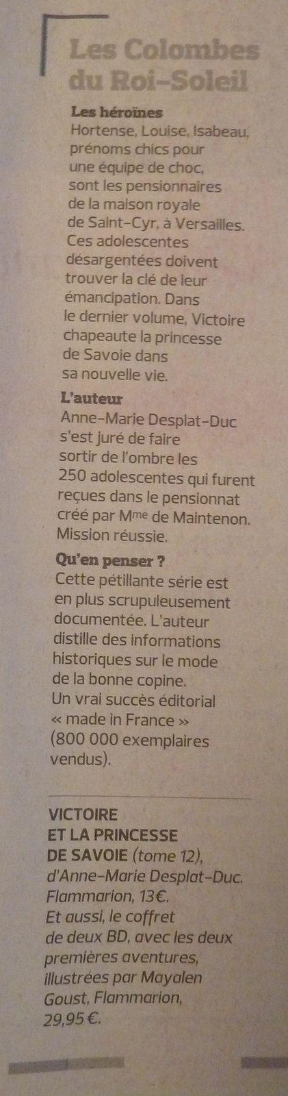 Les Colombes dans le Figaro !