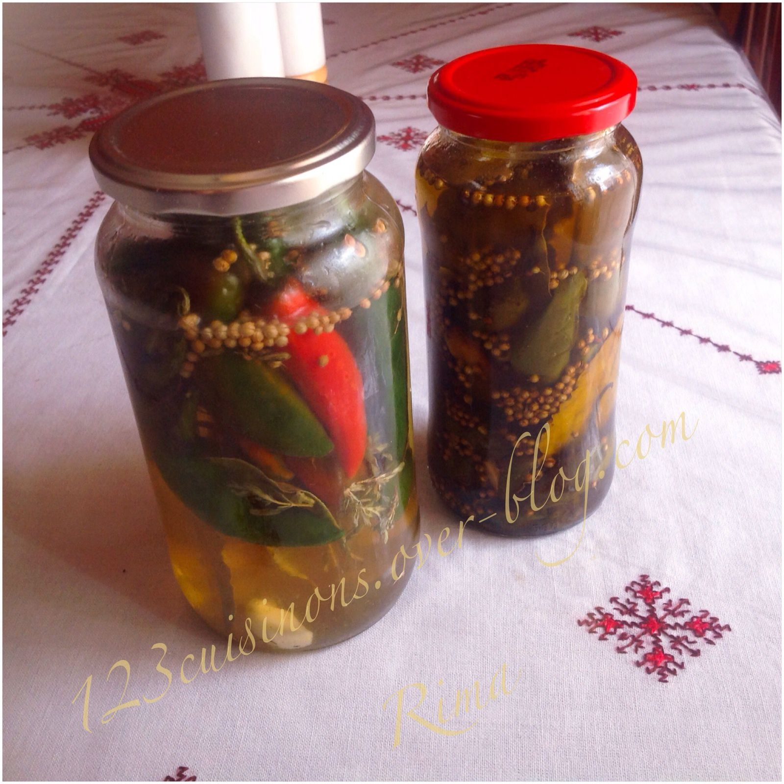 Piments en conserves