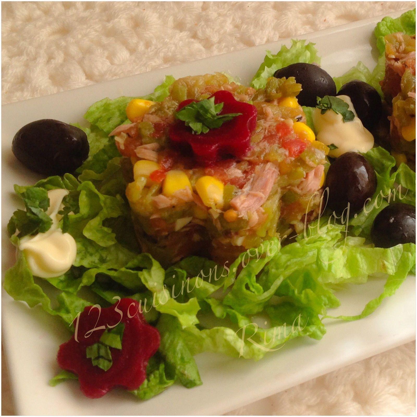 Salades et hors d 39 oeuvre 1 2 3 cuisinons - Salade de tomates simple ...