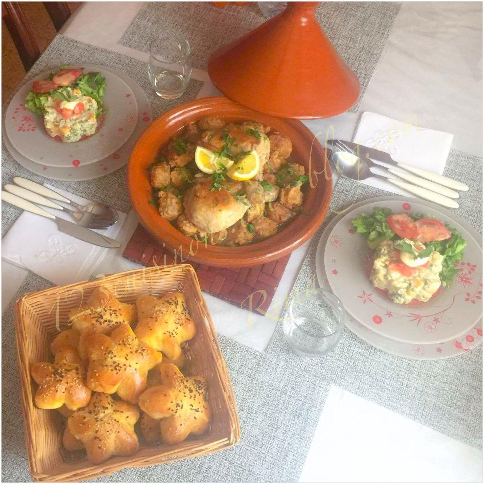 Tajine de beignets de viande hachée ( Mchimcha)