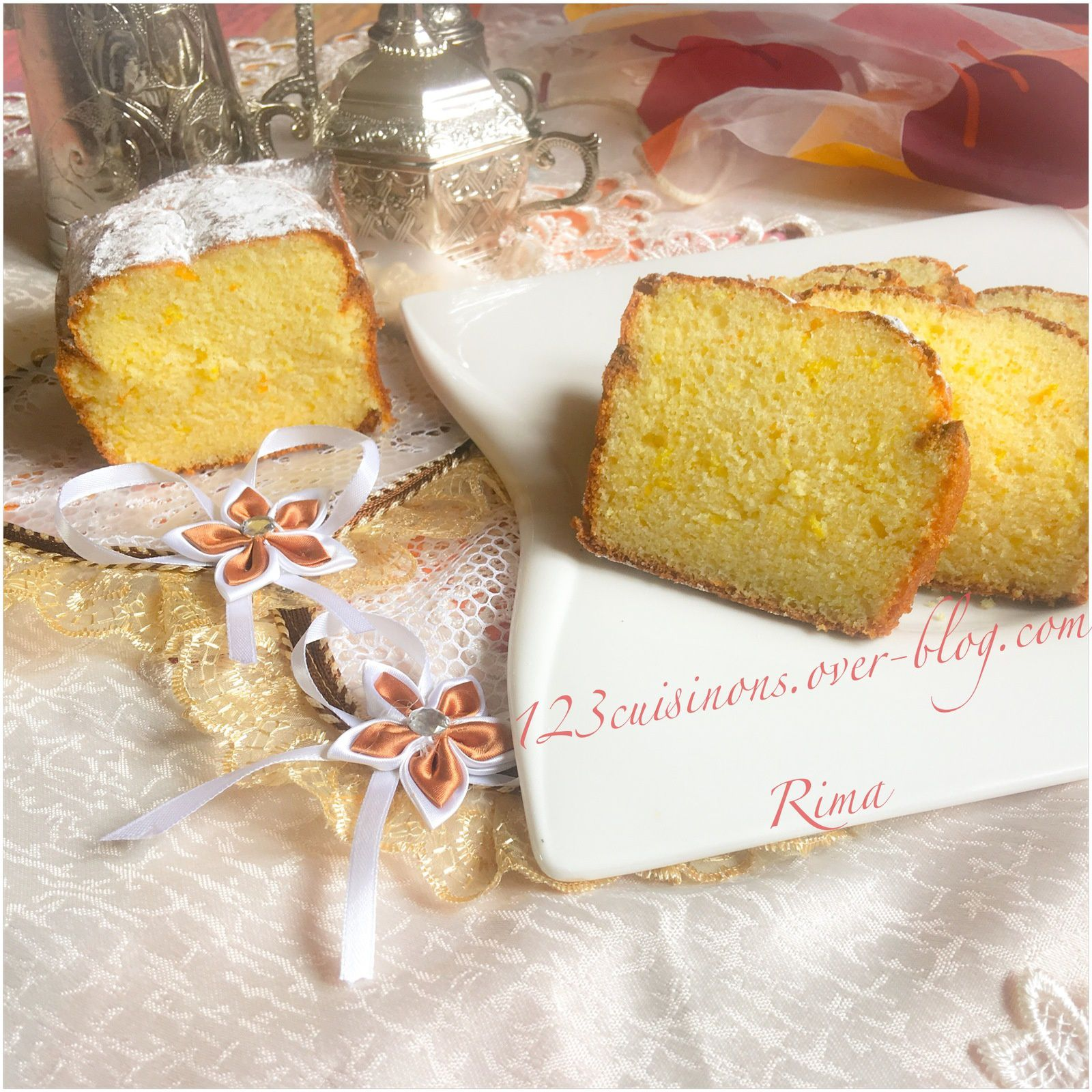 Cake au zeste de citron et d'orange