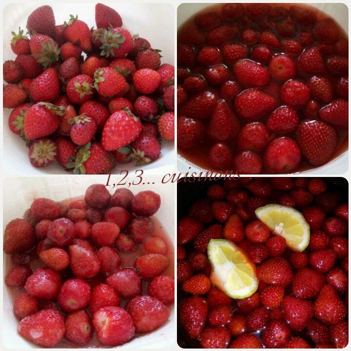 Confiture de fraises à l'eau de roses