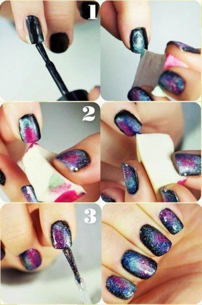 Les ongles galaxy