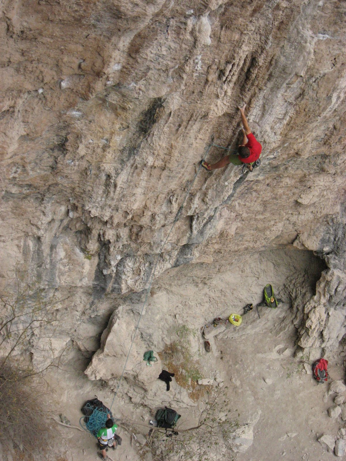 Big Blue, 5.13b in Surf Bowl and a slaby 12c nearby