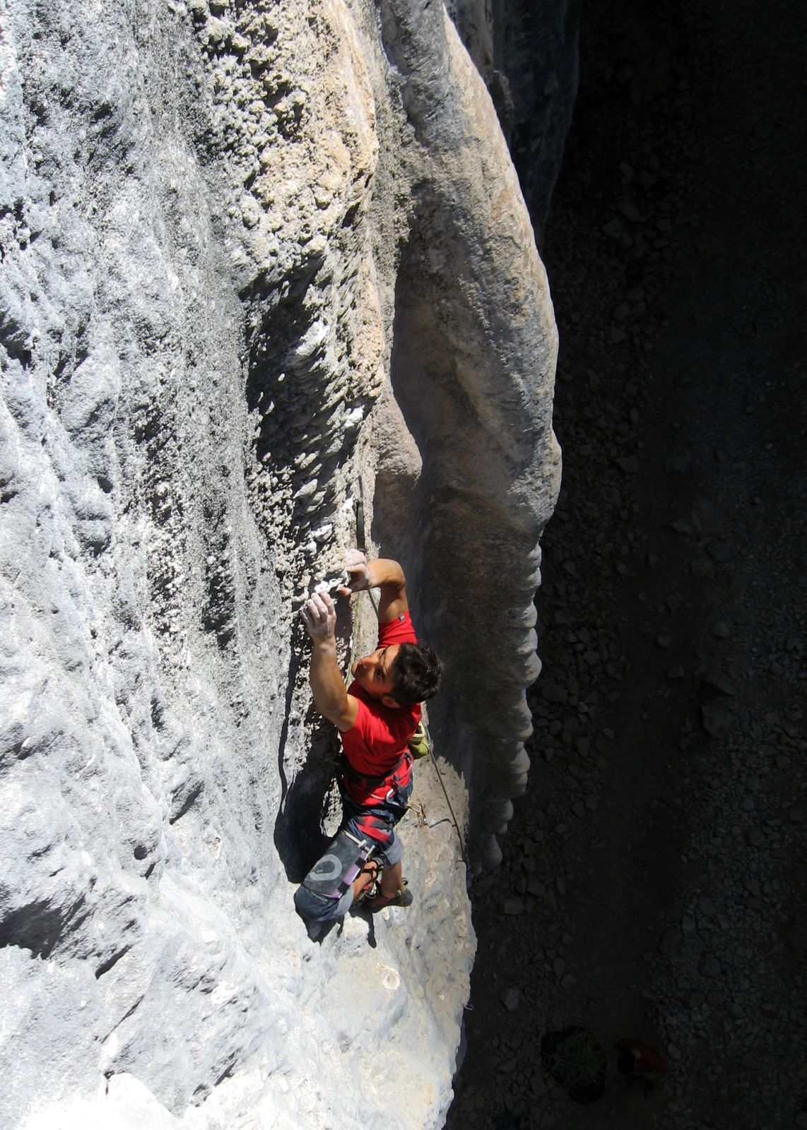 Big Grey Tuffa, 5.12d in Las Animas