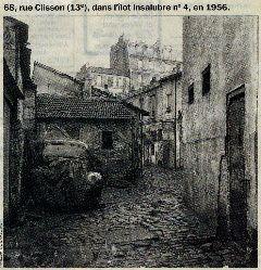 EN ARRIÈRE PLAN, LA MAISON OÙ J'AI VÉÇU DE 1929 À 1955: 13ème arrondissement de Paris