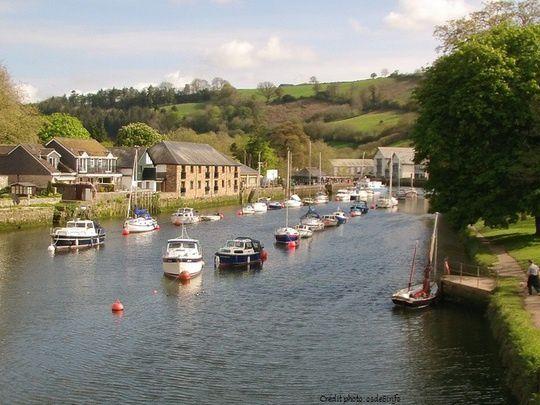 A Totnes, la rivière Dart.