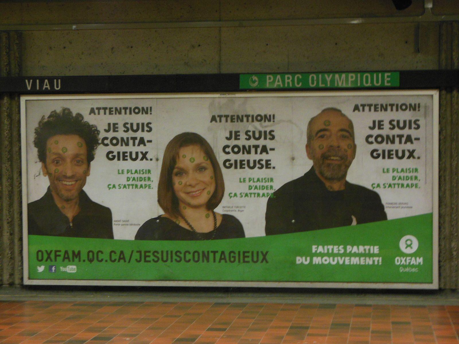 Vu dans le métro à Montréal  !