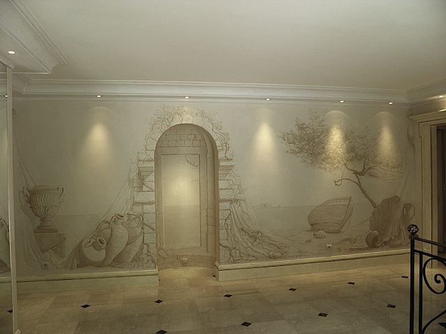 Fresques sur stucco galerie photos florent m d - Peinture stucco video ...