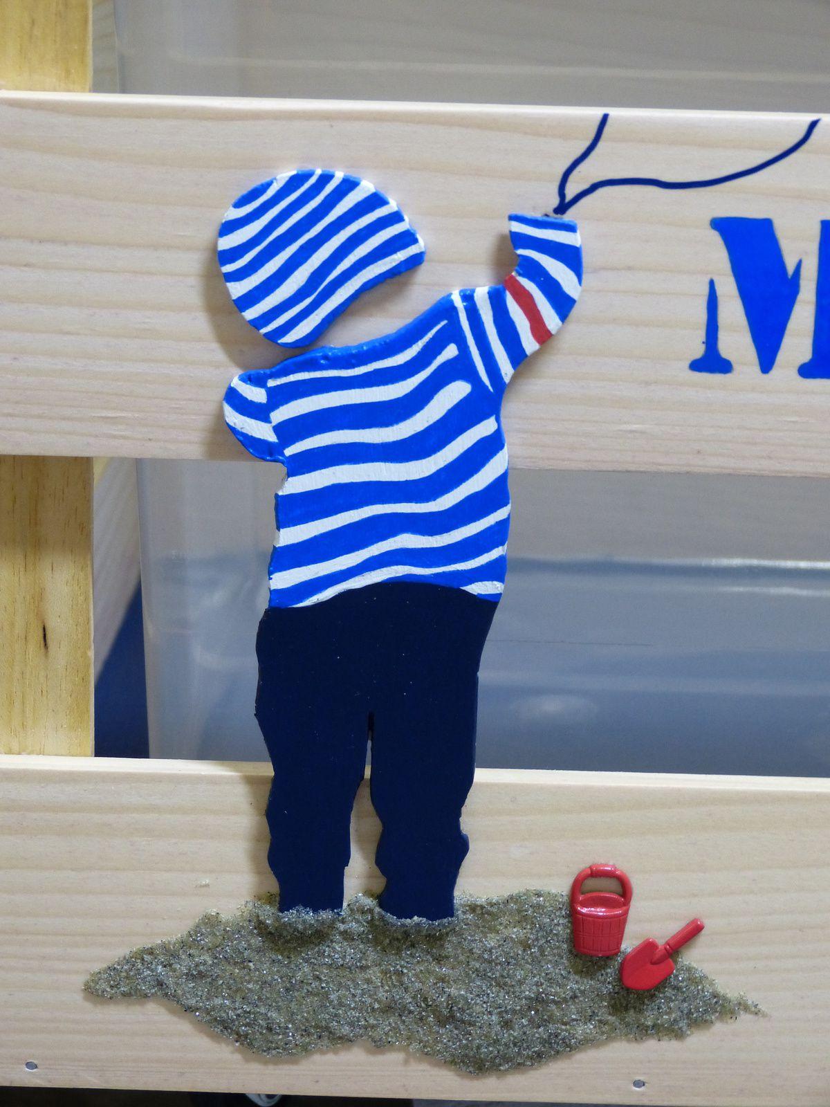 Coffre à jouets marin