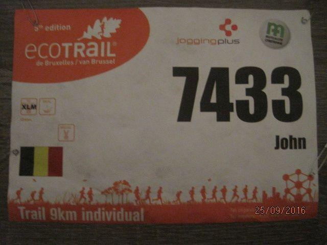 Eco Trail Bruxelles : 9,7 km le 24-09-2016