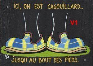 Le concours du lancer de charentaises de La Rochette.