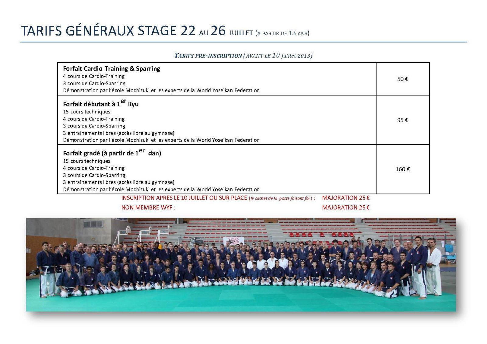 Dossier du stage: affiche, programme, inscription, accès...