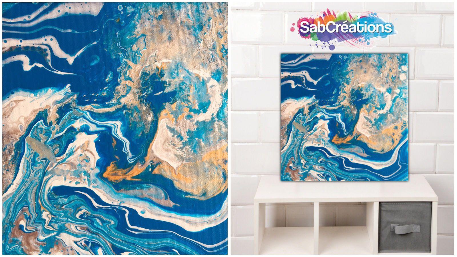 peinture acrylique abstraite 25x30 mes peintures t. Black Bedroom Furniture Sets. Home Design Ideas