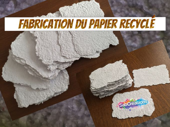fabrication du papier recycl diy sabcreations sabcr ations sabrina pilarz. Black Bedroom Furniture Sets. Home Design Ideas